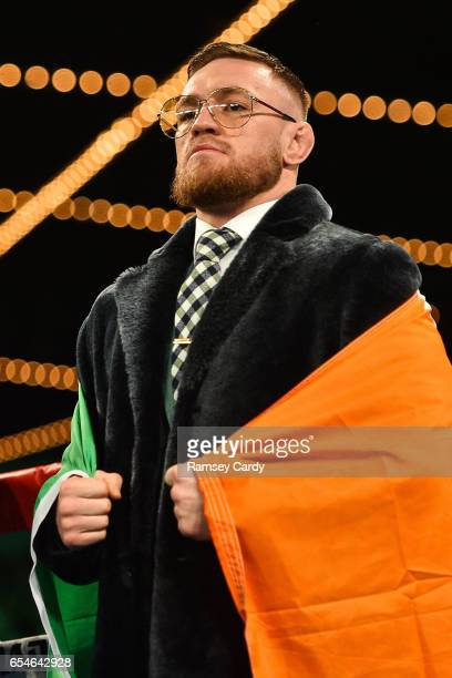 New York United States 17 March 2017 UFC lightweight champion Conor McGregor ahead of Michael Conlan's fight at The Theater in Madison Square Garden...