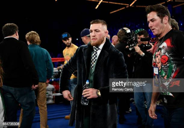 New York United States 17 March 2017 UFC Lightweight Champion Conor McGregor at The Theater in Madison Square Garden in New York USA