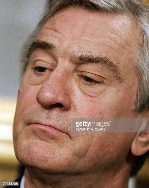 Actor and Tribeca Film Festival cofounder Robert De Niro listens to questions during a news conference at City Hall 28 September 2006 to announce a...