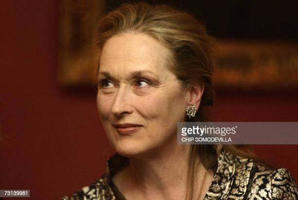 Actress Meryl Streep delivers comments before presenting Prince Charles with the Harvard Medical School Center for Health and the Global Environments...