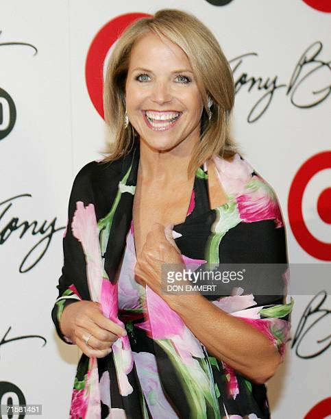 American newswoman Katie Couric smiles for photographers during the celebration of US singer Tony Bennett's 80th birthday hosted by Target at The...