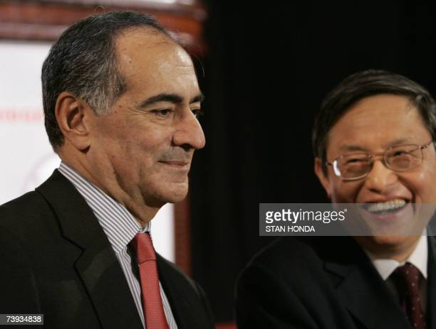 John Mack CEO of Morgan Stanley and Zhou Wenzhong Chinese Ambassador to the US speak at the Committee of 100's 16th Annual Conference 20 April 2007...