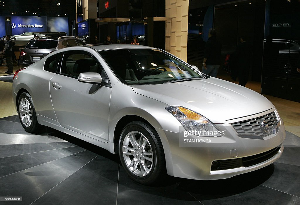 The 2008 Nissan Altima on display at the New York International Automobile Show during the press preview days 04 April 2007 in New York AFP...