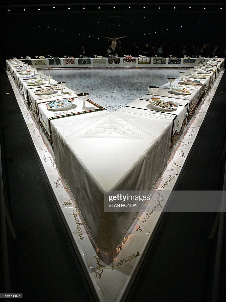 'The Dinner Party' by American artist Judy Chicago is shown on permanent display 22 March 2007 in the newly opened Elizabeth A Sackler Center for...