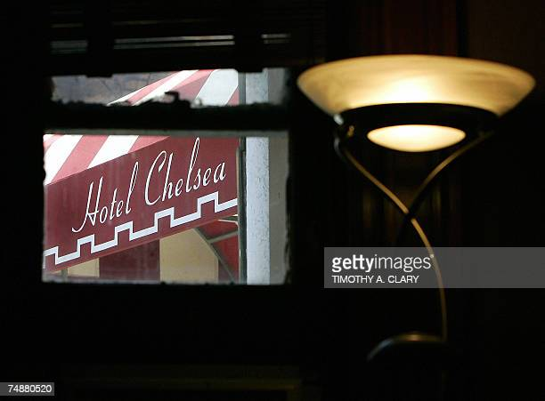 The front of the Hotel Chelsea as seen 25 June 2007 from the office of hotel manager Stanley Bard who has been a fixture at the Chelsea for more than...