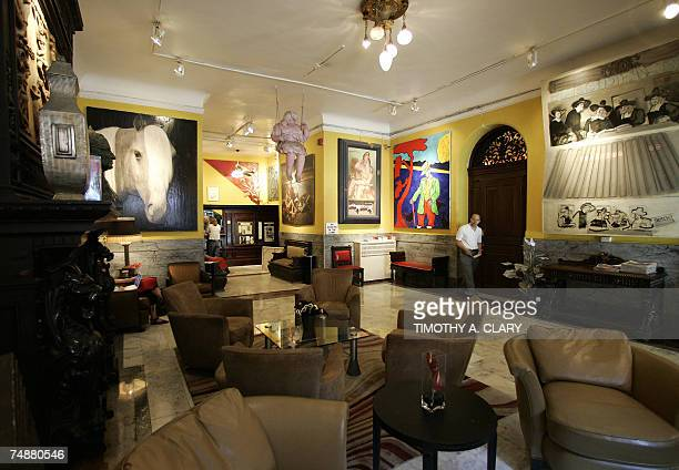 The lobby of the Hotel Chelsea in New York City 25 June 2007 Chelsea Hotel manager Stanley Bard who has been a fixture at the Chelsea for more than...