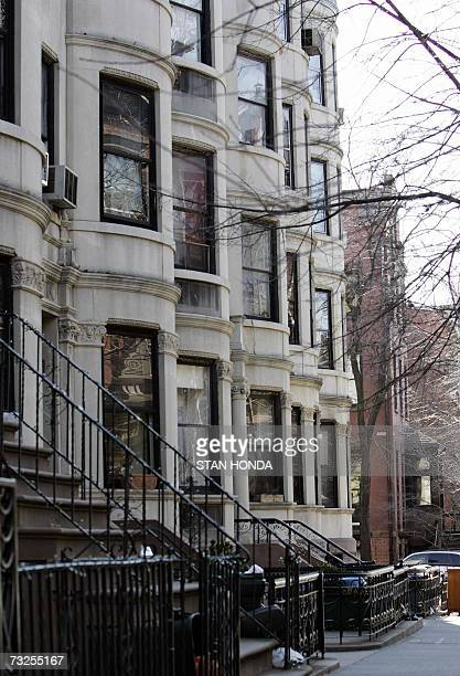 Traditional brownstone buildings on Clinton Street 05 February 2007 in the Brooklyn borough of New York A general development and revival trend is...