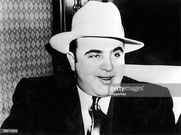 1932 New York USA A picture of American prohibitiontime gangster Al Capone who operated from Chicago
