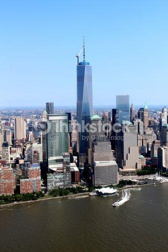 New York Usa Freedom Tower Und Die Skyline Stock Foto Thinkstock