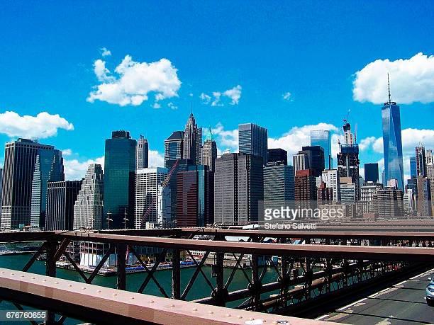New York, view from Brooklyn bridge