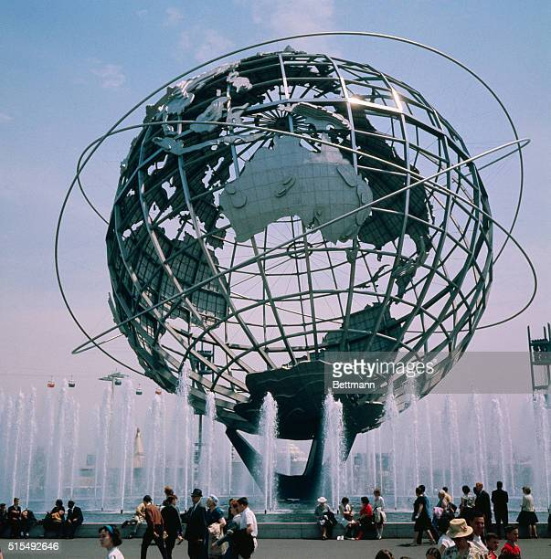 New York Views of the Unisphere at the New York world's Fair May 21 1964