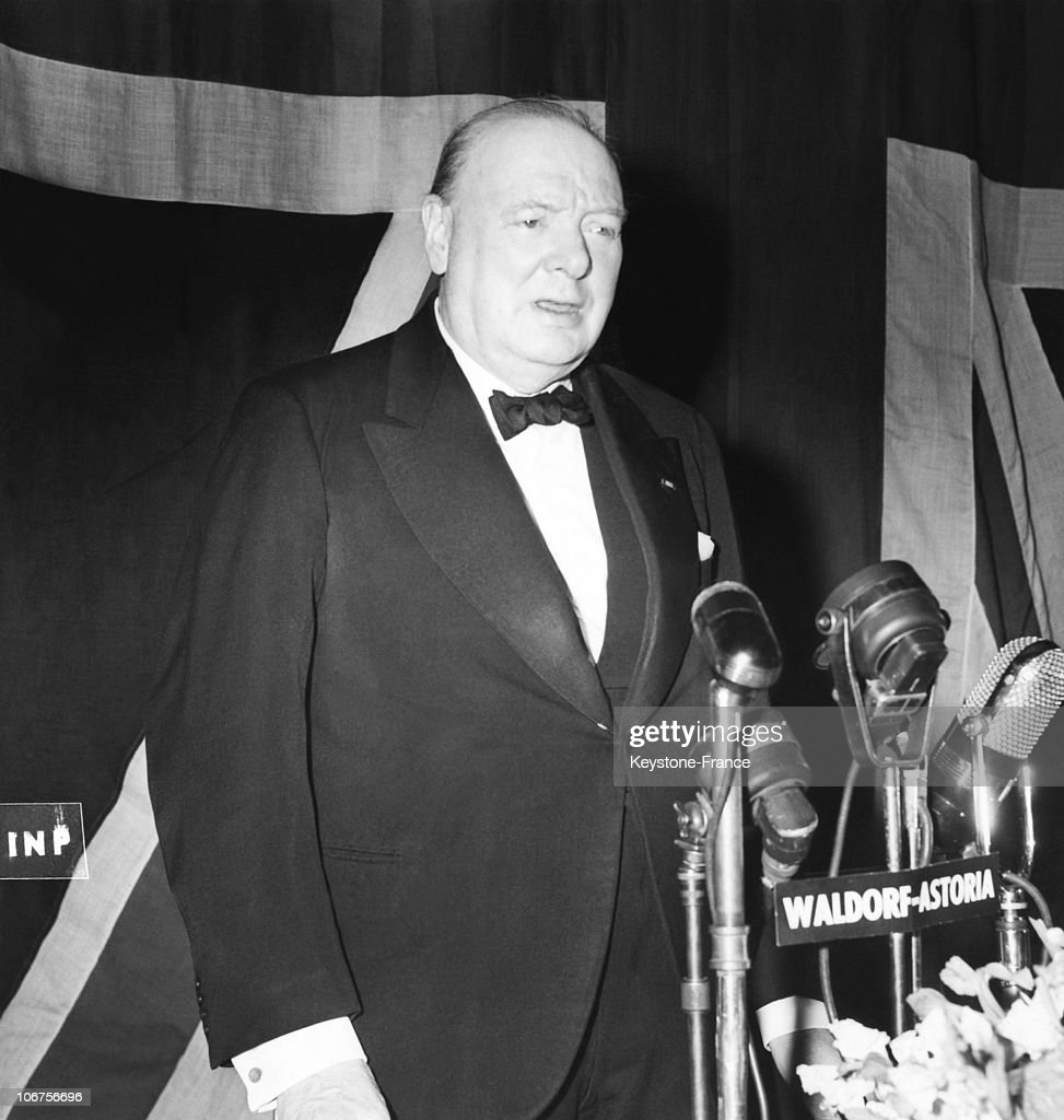 New York Waldorf Astoria Sir Winston Churchill In 1946