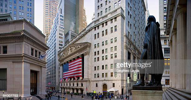 New York Wall Street and Stock Exchange
