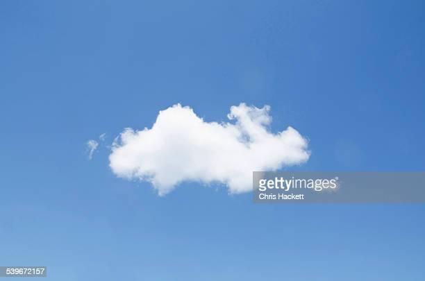 USA, New York, White cumulus cloud in clear blue sky