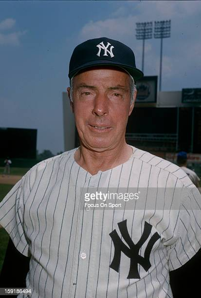 New York Yankee great Joe DiMaggio poses for this photo before a spring training Major League Baseball game circa 1970 DiMaggio played for the...