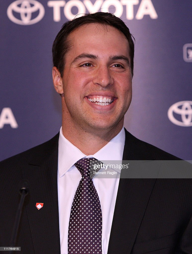 New York Yankee Mark Teixeira attends a press conference to launch New York Yankees' Mark Teixeira's 'Dream Team' campaign to raise funds for Harlem RBI at Yankee Stadium on April 6, 2011 in New York City.