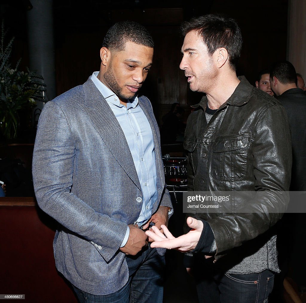 New York Yankee Robinson Cano and actor Dylan McDermott attend the Baron Tequila Launch Party at Butter Restaurant on November 19, 2013 in New York City.