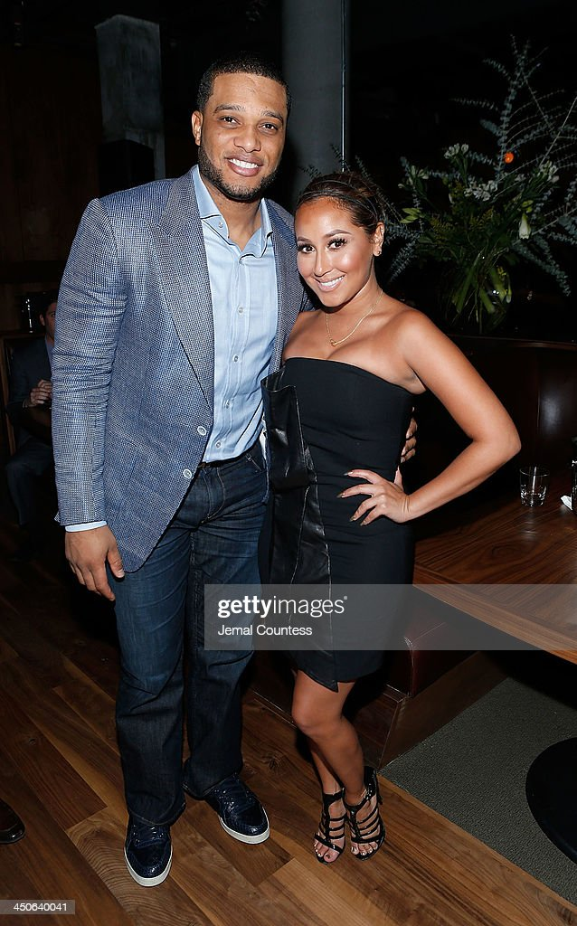 New York Yankee Robinson Cano and actress/singer Adrienne Bailon attend the Baron Tequila Launch Party at Butter Restaurant on November 19, 2013 in New York City.