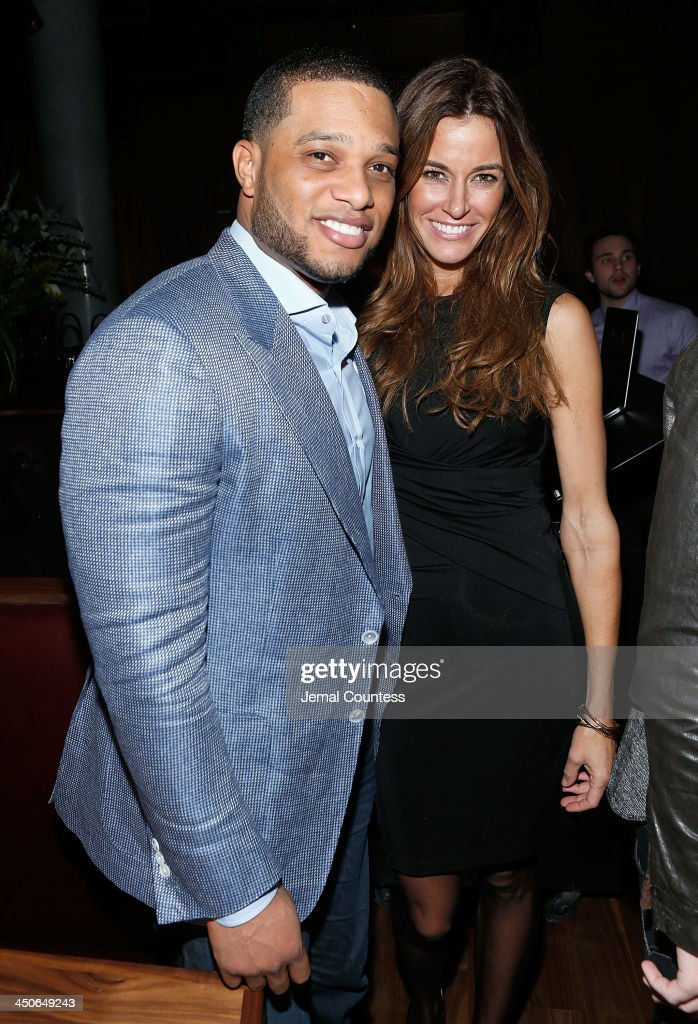 New York Yankee Robinson Cano and media personality Kelly Bensimon attend the Baron Tequila Launch Party at Butter Restaurant on November 19, 2013 in New York City.