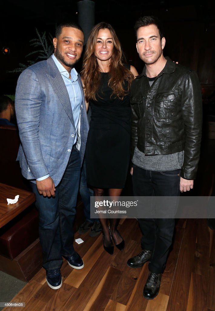 New York Yankee Robinson Cano, media personality Kelly Bensimon and actor Dylan McDermott attend the Baron Tequila Launch Party at Butter Restaurant on November 19, 2013 in New York City.
