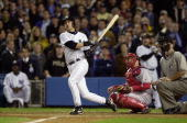 New York Yankees' Aaron Boone hits a solo home run in the 11th inning of Game 7 of the American League Championship Series against the Boston Red Sox...