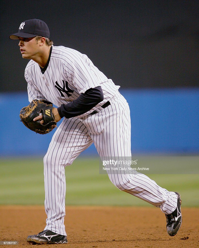 New York Yankees Andy Phillips plays first base during a ga