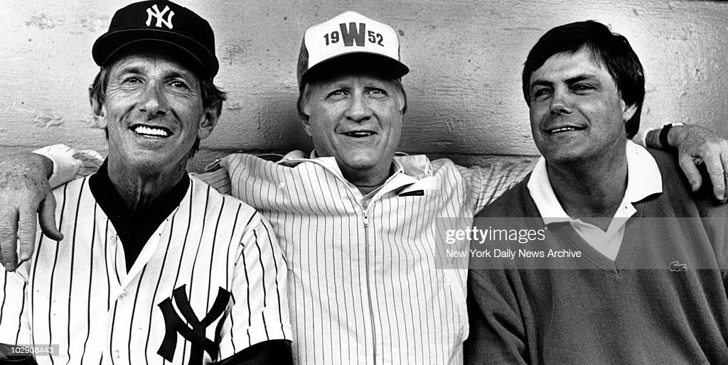 New York Yankees. (l. to r.) <a gi-track='captionPersonalityLinkClicked' href=/galleries/search?phrase=Billy+Martin&family=editorial&specificpeople=93150 ng-click='$event.stopPropagation()'>Billy Martin</a>, <a gi-track='captionPersonalityLinkClicked' href=/galleries/search?phrase=George+Steinbrenner&family=editorial&specificpeople=220576 ng-click='$event.stopPropagation()'>George Steinbrenner</a> and <a gi-track='captionPersonalityLinkClicked' href=/galleries/search?phrase=Lou+Piniella&family=editorial&specificpeople=125191 ng-click='$event.stopPropagation()'>Lou Piniella</a>.