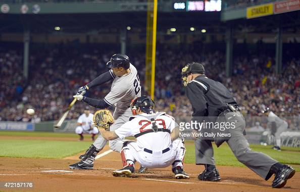 New York Yankees first baseman Mark Teixeira 2 run home run scores New York Yankees left fielder Brett Gardner 1st inning New York Yankees vs Boston...