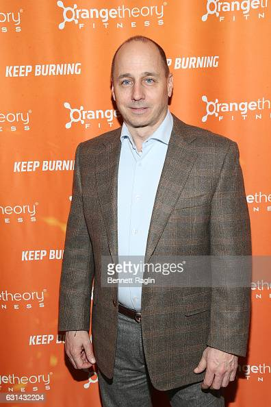 New York Yankees general manager Brian Cashman attends the Orangetheory Fitness Grand Opening at Orangetheory Fitness Astor Place on January 10 2017...