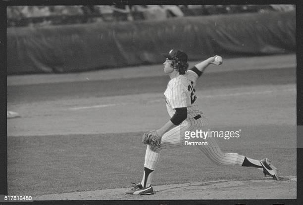 New York Yankees' Jim Hunter pitching in AllStar game