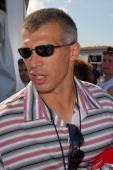 New York Yankees manager Joe Girardi attends the Nascar Nextel Cup Ford 400 at HomesteadMiami Speedway in Homestead Florida on November 18 2007