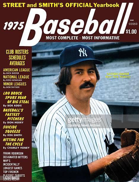 New York Yankees P Catfish Hunter 1975 Street and Smith's