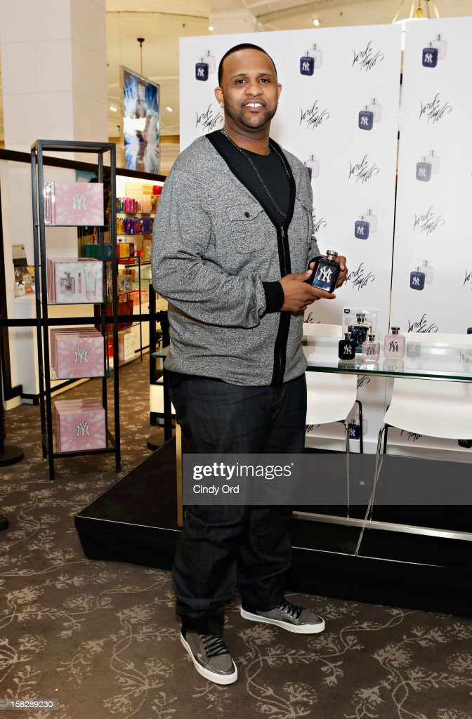 New York Yankees pitcher CC Sabathia attends the CC And Amber Sabathia 'New York Yankees' Fragrance Event at Lord And Taylor on December 12, 2012 in New York City.