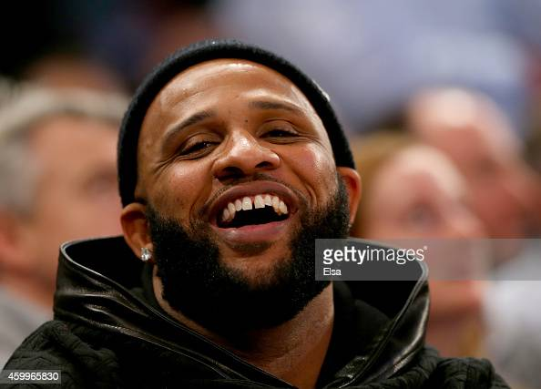 New York Yankees pitcher CC Sabathia attends the game between the New York Knicks and the Cleveland Cavaliers at Madison Square Garden on December 4...