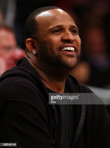 New York Yankees pitcher CC Sabathia attends the game between the Brooklyn Nets and the Cleveland Cavaliers on November 13 2012 at the Barclays...