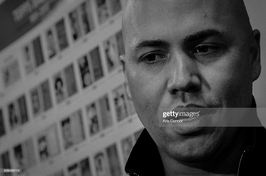 New York Yankees right fielder Carlos Beltran attends the 'Open Topps Baseball Series 1 Cards ' event at the Topps' offices on February 10, 2016 in New York City.