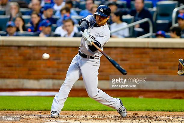 New York Yankees second baseman Brian Roberts during the game between the New York Mets and the New York Yankees played at Citi Field in Flushing...