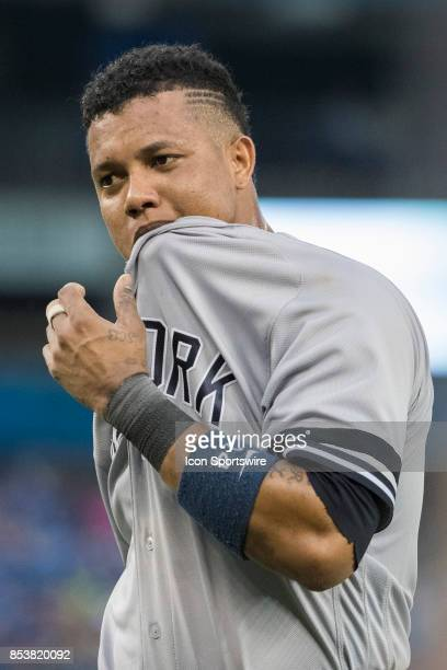 New York Yankees Second baseman Starlin Castro during the regular season MLB game between the New York Yankees and the Toronto Blue Jays on September...