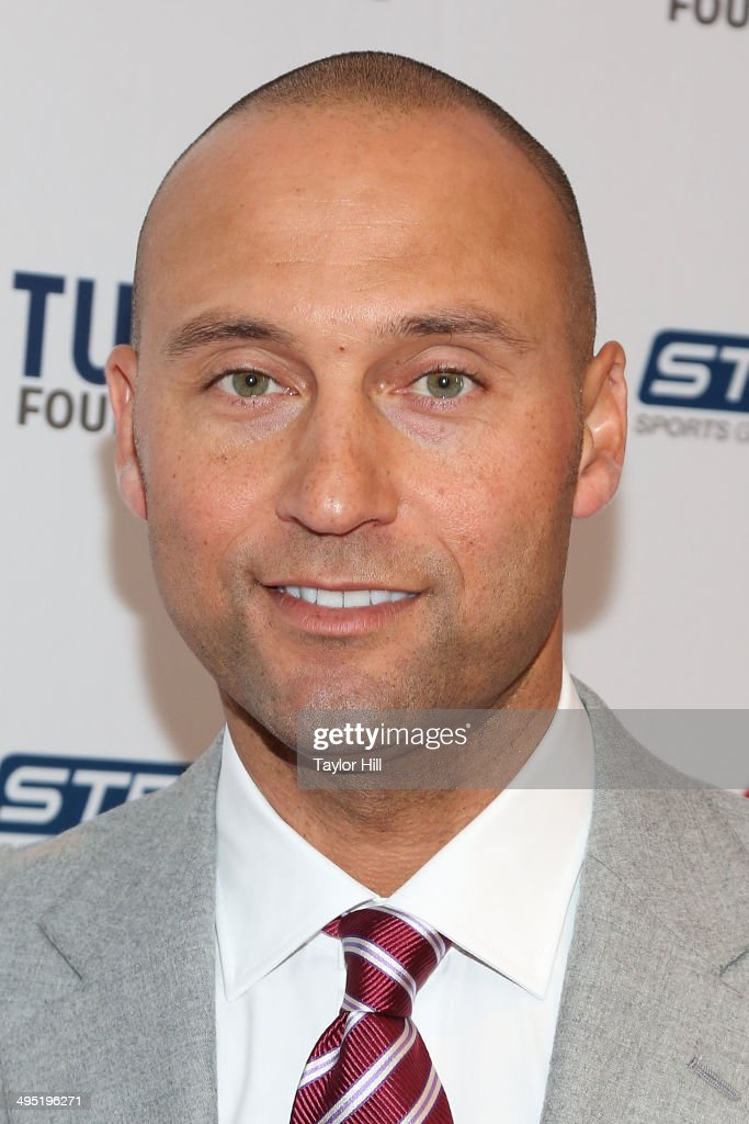 New York Yankees shortstop <a gi-track='captionPersonalityLinkClicked' href=/galleries/search?phrase=Derek+Jeter&family=editorial&specificpeople=167125 ng-click='$event.stopPropagation()'>Derek Jeter</a> attends the <a gi-track='captionPersonalityLinkClicked' href=/galleries/search?phrase=Derek+Jeter&family=editorial&specificpeople=167125 ng-click='$event.stopPropagation()'>Derek Jeter</a> 18th Annual Turn 2 Foundation dinner at Sheraton New York Times Square on June 1, 2014 in New York City.