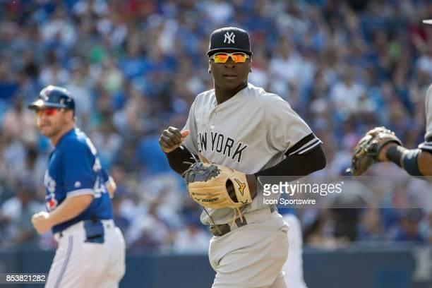 New York Yankees Shortstop Didi Gregorius during the regular season MLB game between the New York Yankees and the Toronto Blue Jays on September 23...