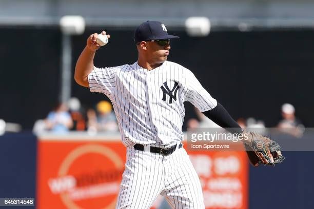 New York Yankees shortstop Gleyber Torres during the Spring Training game between the Philadelphia Phillies and New York Yankees on February 24 at...