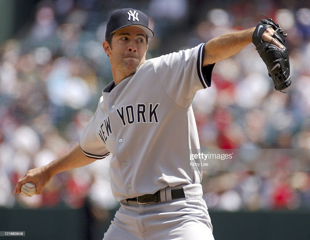 New York Yankees starter Mike Mussina pitches during 101 victory over the Los Angeles Angels of Anaheim at Angel Stadium in Anaheim Calif on Sunday...