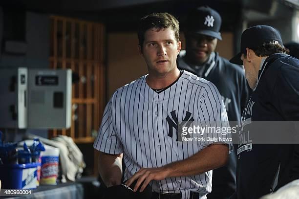 New York Yankees starting pitcher Adam Warren pulled 5th inning New York Yankees vs Baltimore Orioles at Yankee Stadium Bronx NY Friday May 8 2015