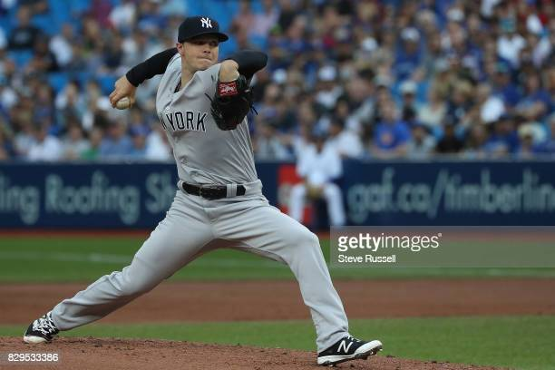 TORONTO ON AUGUST 10 New York Yankees starting pitcher Sonny Gray as the Toronto Blue Jays play the New York Yankees at the Rogers Centre in Toronto...