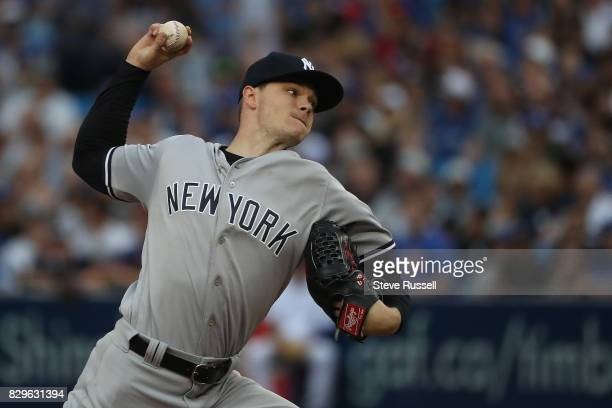 TORONTO ON AUGUST 10 New York Yankees starting pitcher Sonny Gray pitched six innings as the Toronto Blue Jays shutout the New York Yankees 40 at the...