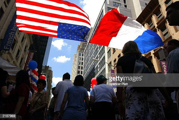 New Yorkers attend Bastille Day festivities July 13 2003 in New York City Bastille Day is the celebration of the beginning of the French Revolution...