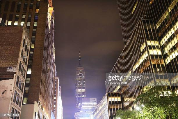 New York's Empire Sate Building went dark on Tuesday night in observance of the victims of a terrorist attack in the English city of Manchester on...