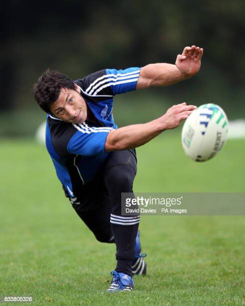 New Zealand All Blacks Byron Kelleher during a training session at The Vale Hensol Vale of Glamorgan