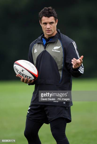 New Zealand All Blacks Dan Carter during a training session at The Vale Hensol Vale of Glamorgan