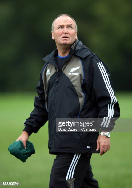 New Zealand All Blacks head coach Graham Henry during a training session at The Vale Hensol Vale of Glamorgan